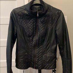 Mossimo Faux Leather Black Moto Jacket